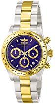 Invicta Herren-Armbanduhr XL Chronograph Quarz Edelstahl beschichtet 3644