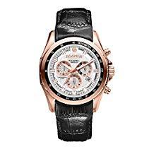 Roamer Herren-Armbanduhr XL ROCKSHELL CHRONO Chronograph Quarz Leder 220837 RGL1