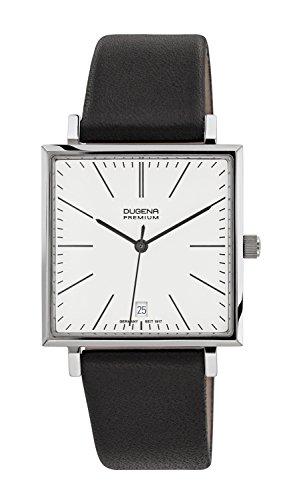Dugena Herren-Armbanduhr Dessau Carrée - Modern Classic Analog Quarz Leder 7000140