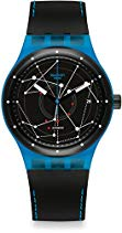 Swatch Herren Armbanduhr Digital Automatik Leder SUTS401