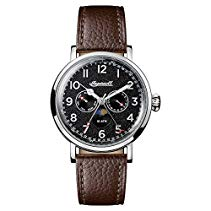 Ingersoll Men's The St Johns Quartz Watch withSchwarz Dial andBraun Leather Strap I01601
