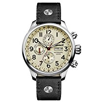 Ingersoll Men's The Delta Automatic Watch with Cream Dial andSchwarz Leather Strap I02301
