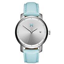 MVMT Damen Watch Uhr Silver/Arctic Leder Armband MF01-SAL
