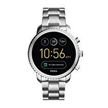 Fossil Herren Smartwatch Q Explorist 3. Generation - Edelstahl - Silber / Elegante Smartwatch Armbanduhr mit diversen Funktionen & Features / Für Android & iOS