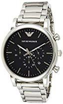 Emporio Armani AR1894 Chronograph Uhr Herrenuhr Edelstahl Edelstahl 5 bar Analog Chrono Datum Silber